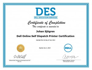 Dell Online Self Dispatch Printer